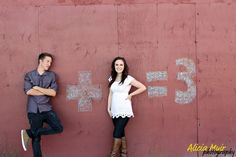 "Found this while I was doing a photo shoot.....so i had my brother and his ""friend""(; do it. Its a maternity picture!{NO ONE IS HAVING A BABY} hahaha I LOVE IT!(:"
