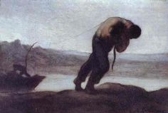 The Hauler Of A Boat 1856-60 | Honore Daumier | Oil Painting