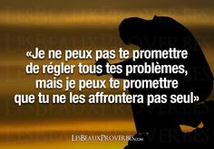 Tu me l'as promis, mais tiendras- tu ta promesse ? Quote Citation, French Quotes, Magic Words, Some Quotes, Learn French, Some Words, Positive Affirmations, Proverbs, Sentences