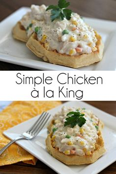Simple Chicken à la King Recipe #LeggoMyEggo #HearTheNews #ad