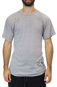 Light Weight Distressed Tee in Gray – Fashion X Freedom
