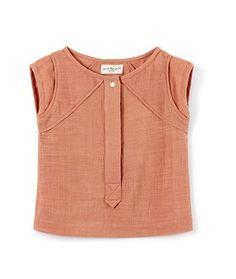 April Pink Button Blouse