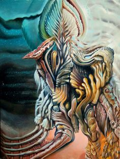 Dust on the Lens - The Art of Cody Seekins Alex Grey, Visionary Art, Psychedelic Art, True Colors, Painting & Drawing, Oil On Canvas, Fantasy Art, Whimsical, Lion Sculpture