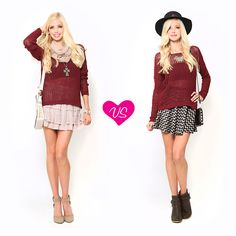 Which sweater & skirt #outfit would you wear?
