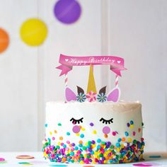 New Unicorn Birthday Cake Decorations Set Unicorn Horns Cake Topper Kids Birthday Decorative Party Decor Supplies Cake Decorating Set, Birthday Cake Decorating, Unicorn Cake Decorations, Decoration Birthday, Unique Cakes, Pastry Cake, Savoury Cake, Unicorn Birthday, Mini Cakes