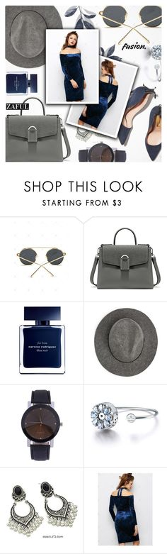 """Zaful"" by jiabao-krohn ❤ liked on Polyvore featuring Rupert Sanderson, Narciso Rodriguez, MANGO and zaful"