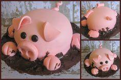 Piggy Cake!!!!! @Ami Pariseault
