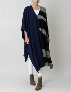Creatures of Comfort Elise Poncho Cashmere - Navy. Love it!