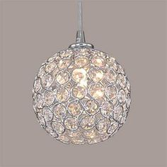 pendente bola cristal my-94517/h1 soquete g9x1 lamp