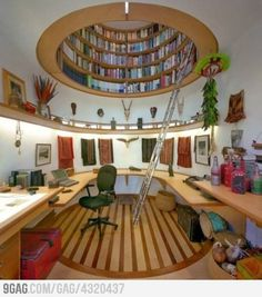 Bookcase in the Ceiling