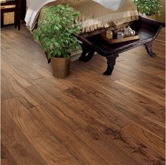 Understand different types of hardwood and laminate flooring before you buy. Acacia Hardwood Flooring, Hardwood Floors In Kitchen, Types Of Wood Flooring, Hardwood Floor Colors, Oak Laminate Flooring, Light Hardwood Floors, Engineered Hardwood Flooring, Wooden Flooring, Flooring Ideas