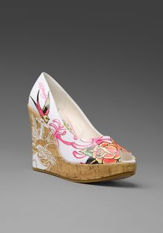 Ed Hardy Floral Wedges from Revolve Clothing.com
