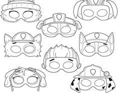 Coloring PAW Patrol Masks adornos