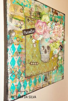 Mixed Media Art Canvas Collage