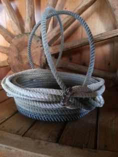 Used Lariat Rope Basket