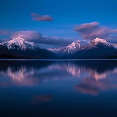 After a spectacular #sunset at #LakeMcDonald visitors at #Glacier National Park in #Montana were greeted with some beautiful alpenglow last week. Photo @glaciernps by Jacob W. Frank #NationalPark Service. by usinterior