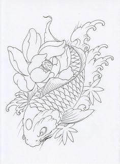 I Seriously Adore The Colours Outlines And Depth This Is Certainly An Awesome Tattoo Design If You R Koi Tattoo Design Japanese Tattoo Art Koi Fish Drawing