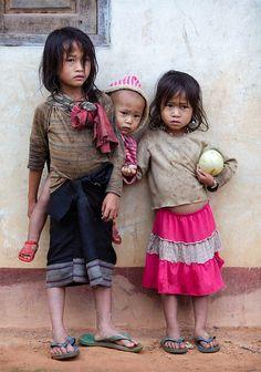 Kids taking care of kids in Laos