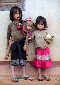 Kids taking care of kids in Laos