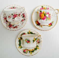 Vintage High Tea Set Lavender & Rose