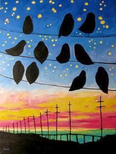 We have been having some incredible sunsets in San Diego as of late. I decided to do a painting project with the 2nd graders this week that ...