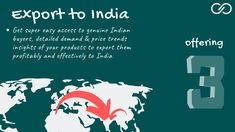 ***Start Exporting Your Products*** Let help arrange export order for you The World's Most Trusted Platform for Export / Import from India Your One Stop Source To Trade With India Export Business, India Country, Business Opportunities, Ukraine, Insight, Germany, Platform, Europe, France