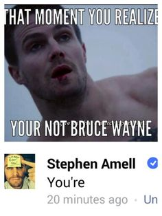 Stephen Amell, fighting injustice, even the grammatically incorrect kind, like a boss.