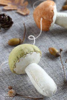 Как сшить грибочек / Mushroom tutorial - Вечерние посиделки...how to sew a mushroom