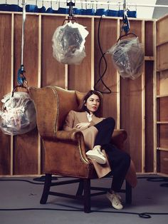 Sofia Coppola, wing back chair
