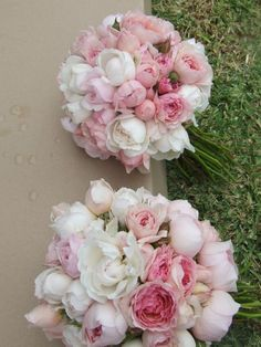 pink wedding flower bouquet, bridal bouquet, wedding flowers, add pic source on comment and we will update it. www.myfloweraffair.com can create this beautiful wedding flower look.