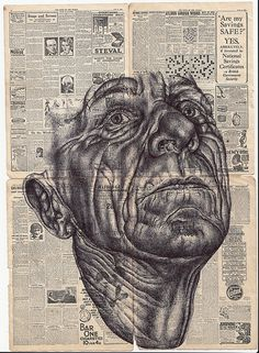 'electric candlelights' Bic biro drawing by mark powell, via Behance Biro Art, A Level Art Sketchbook, Identity Art, Portraiture Artist, Drawings, Newspaper Art, Art, Portrait Art, Art Portfolio