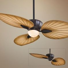 """Need lights with fas....most are awful but ths might be cool....52"""" Minka Aire Terrana Kocoa Ceiling Fan with Light Kit"""