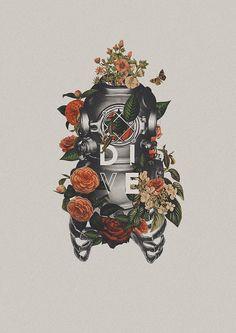 D I V E Poster Lettering By Ricardo Garcia                                                                                                                                                                                 More