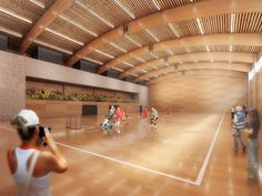 Town Hall Sports Center Winning Proposal © Atelier 8000