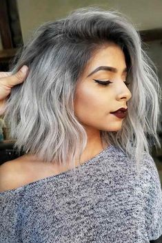 21 Platinum Hair Looks To Appear Super Hot : Platinum Silver Hair Color Platinum Silver Hair Color, Silver Ombre Hair, Gray Hair, Short Silver Hair, Silver Hair Styles, Grey Ombre Hair Short, Silver Hair Asian, Silver Hair Colors, Grey Dyed Hair