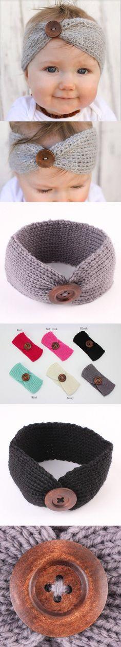 Hot Sale winter wool knitted headbands baby girls kids newborn hair head band wrap turban headband headwear headwrap accessories