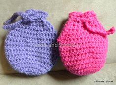 Swirls and Sprinkles: Free crochet Easter goody bag pattern
