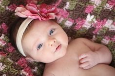 Two Month Old Baby Girl With Pink Rose Headband Bright Eyes Massachusetts Photographer Central MA Newborn Cute Baby Girl Photos, Cute Newborn Baby Girl, Baby Girl Headbands, Baby Baby, Two Month Old Baby, 3 Month Old Baby Pictures, Baby Month By Month, Family Pictures, Studio Newborn