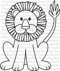 Just The Face For Quiet Book Page Digital Stamp Lion By Paperaddictions On Etsy
