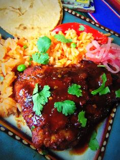 Spicy Tamarindo-Chile Ancho Barbeque Chicken - Hispanic Kitchen