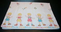 Vintage Pinocchio Peek a Boo Baby Blanket by AstridsPastTimes