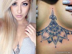 Allison Green flowers hip tattoo