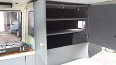 VW T4 Camper Van | Cupboard Shelves | Andy Corby T4 Camper, Cupboard Shelves, Marketing Professional, Southampton, Bathroom Medicine Cabinet, Vw, Locker Storage, Digital Marketing, Home Decor