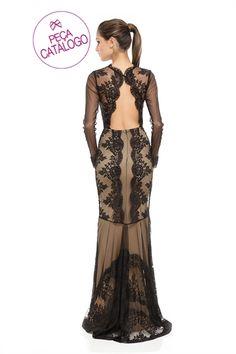 $1490 Vestido Longo Decote Costas e Renda - roupas-festas-vestido-longo-decote-costas-e-renda Iorane