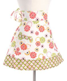 I remember as a child cooking and after dinner anll the women put their aprons on. To wash dishes and put food away.  Cute apron