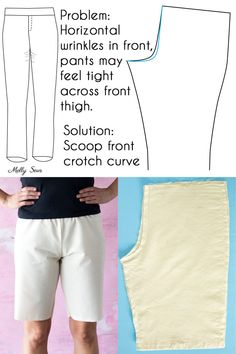 Full Tummy Adjustment Pants - Pants fitting help - How to Sew Pants that Fit - Fit Problems and Solutions - Melly Sews