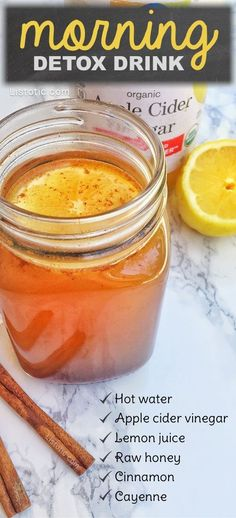 Fitness Motivation : This detox drink recipe with apple cider vinegar helps aid in cleansing weight