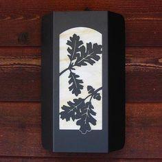 """12"""" Nature Indoor Wall Sconce- Oak Leaf"""