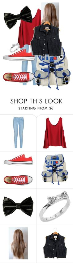 """""""Untitled #569"""" by xxsilentsilverxx ❤ liked on Polyvore featuring moda, 7 For All Mankind, WithChic, Converse, R2 y Kate Spade"""