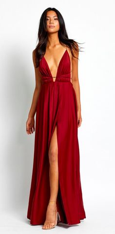 BLOSSOM GOWN - WINE Fashion Tape, Pleated Skirt, Rust, Sexy Women, Burgundy, Gowns, Wine, Legs, Formal Dresses